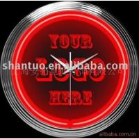 15in customized logo neon clock 15英寸 定制 �V告 霓虹�